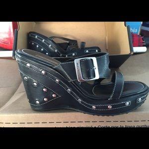 Harley Davidson Black Studded Sandals